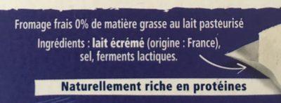 Carré Frais 0% - Ingredients