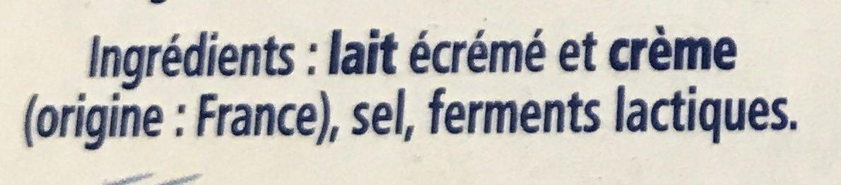 Carré Frais - Ingrédients