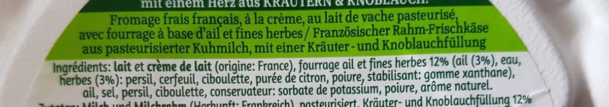 Tartare Perles ail & fines herbes - Ingrédients - fr