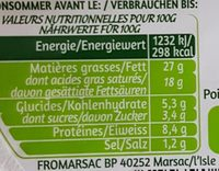 Tartare Perles ail & fines herbes - Informations nutritionnelles - fr