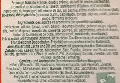 L'apérifrais - saveur saumon - Ingrédients - fr