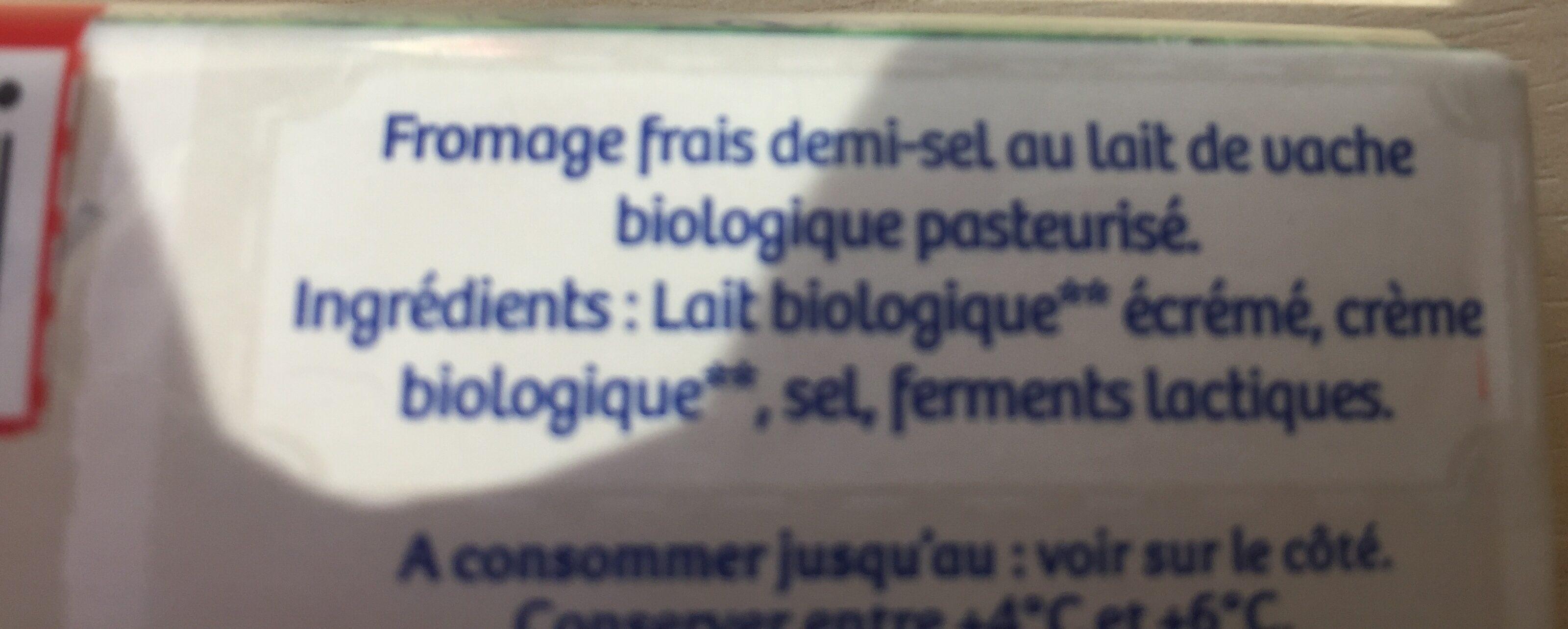 Carré frais - Ingrédients - fr