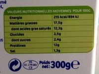 Carré Frais Carrément Généreux - Informations nutritionnelles - fr