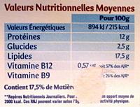 Carré - Fromage frais - Nutrition facts - fr