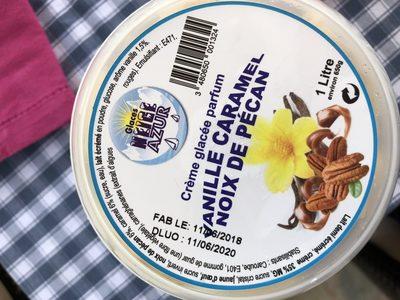 Crème glacée parfum vanille caramel noix de pécan - Ingrédients - fr
