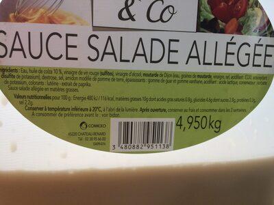 Sauce salade allégée - Ingrédients - fr