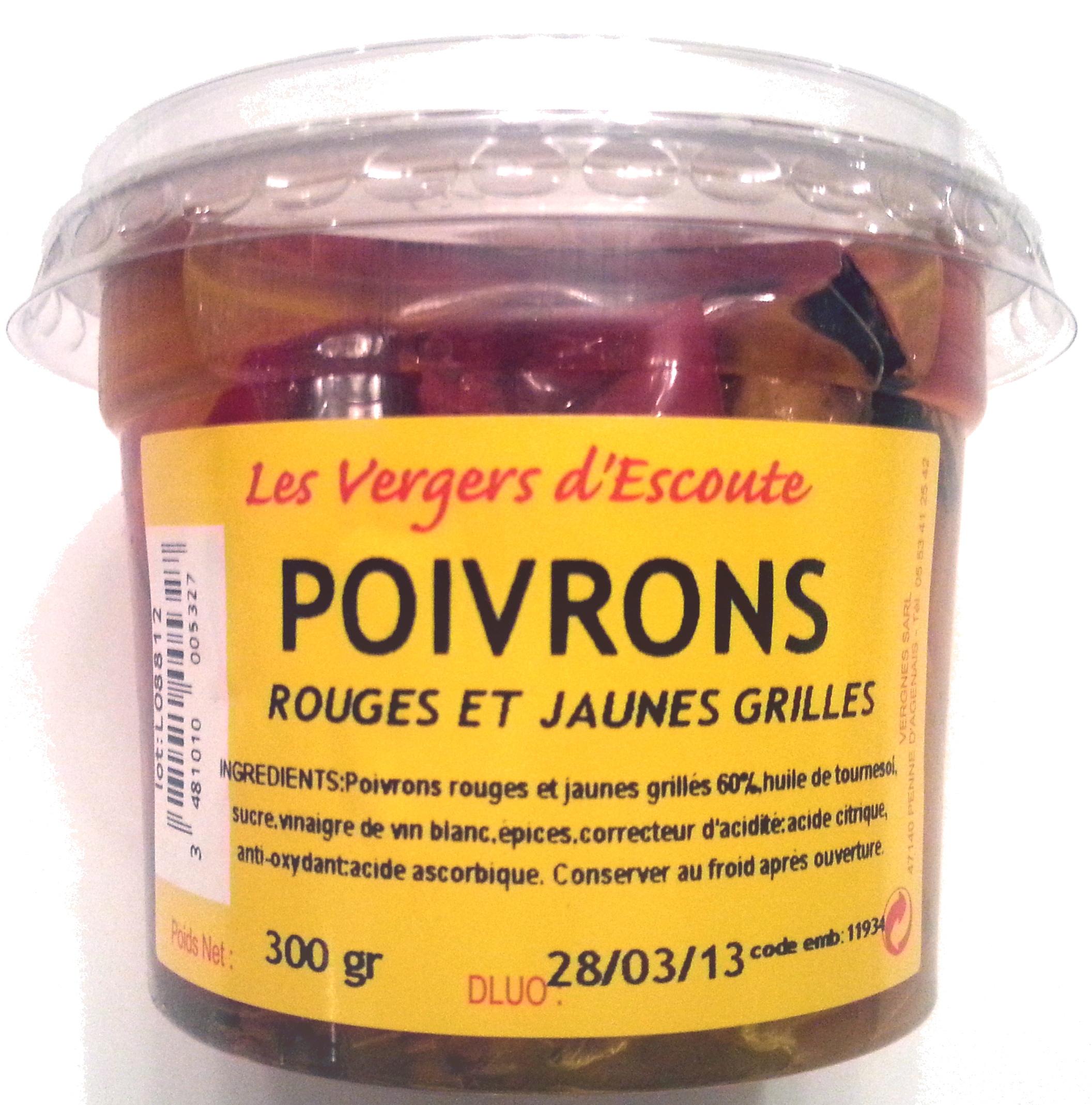 Poivrons rouges et jaunes grillés - Produit - fr
