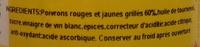 Poivrons rouges et jaunes grillés - Ingrédients