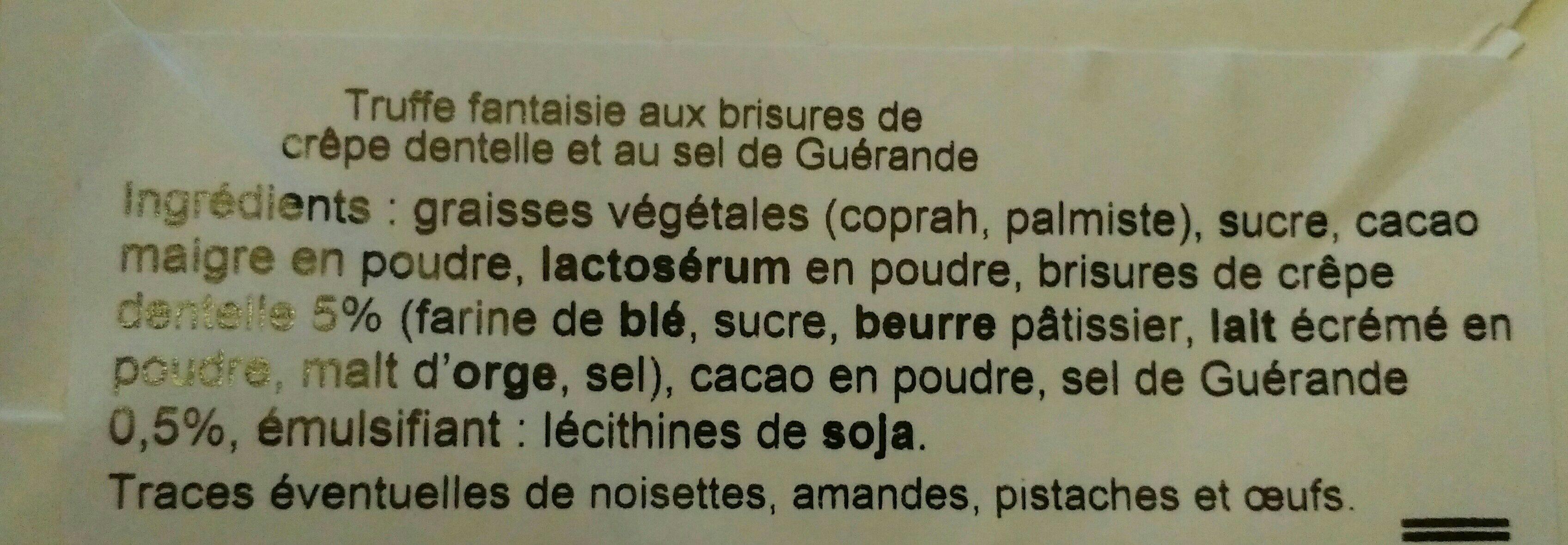 Truffes fantaisie - Ingredients