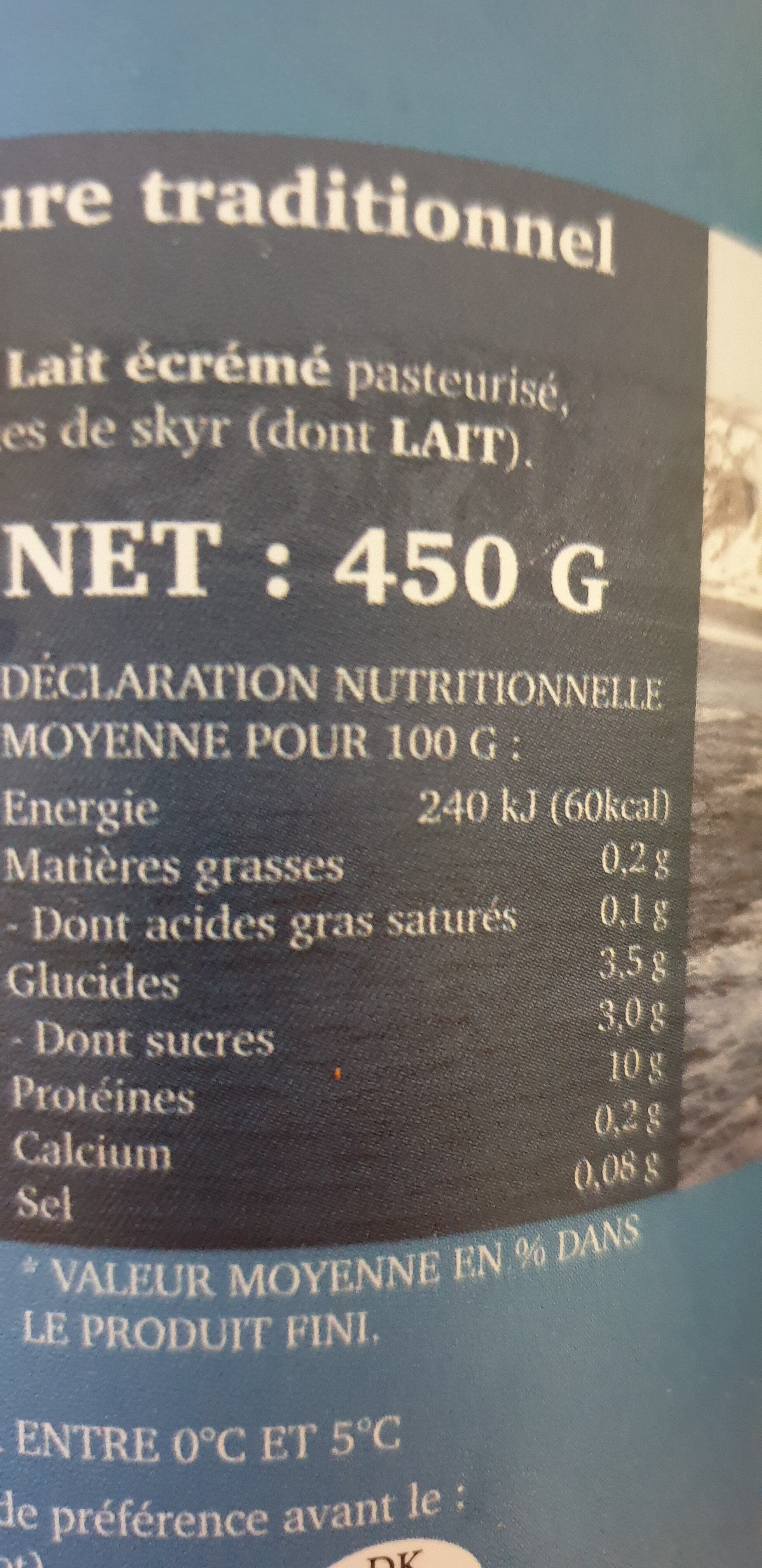 Skyr - Nutrition facts
