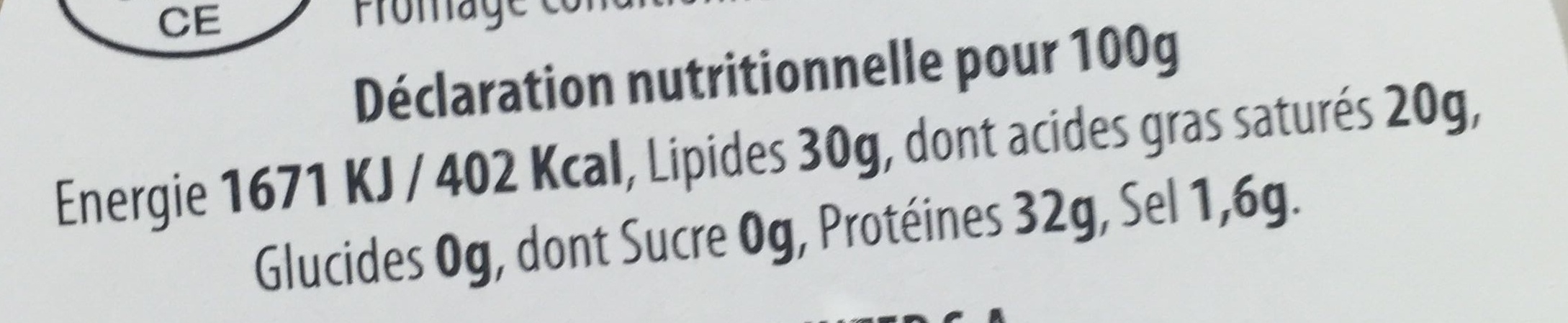 dés de parmigiano reggiano - Nutrition facts
