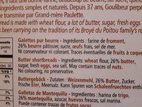 Boite en métal galettes Goulibeur - Ingredients - fr