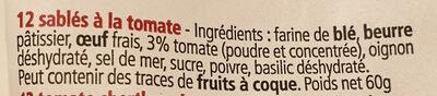 Croquants à La Tomate - Ingrédients - fr
