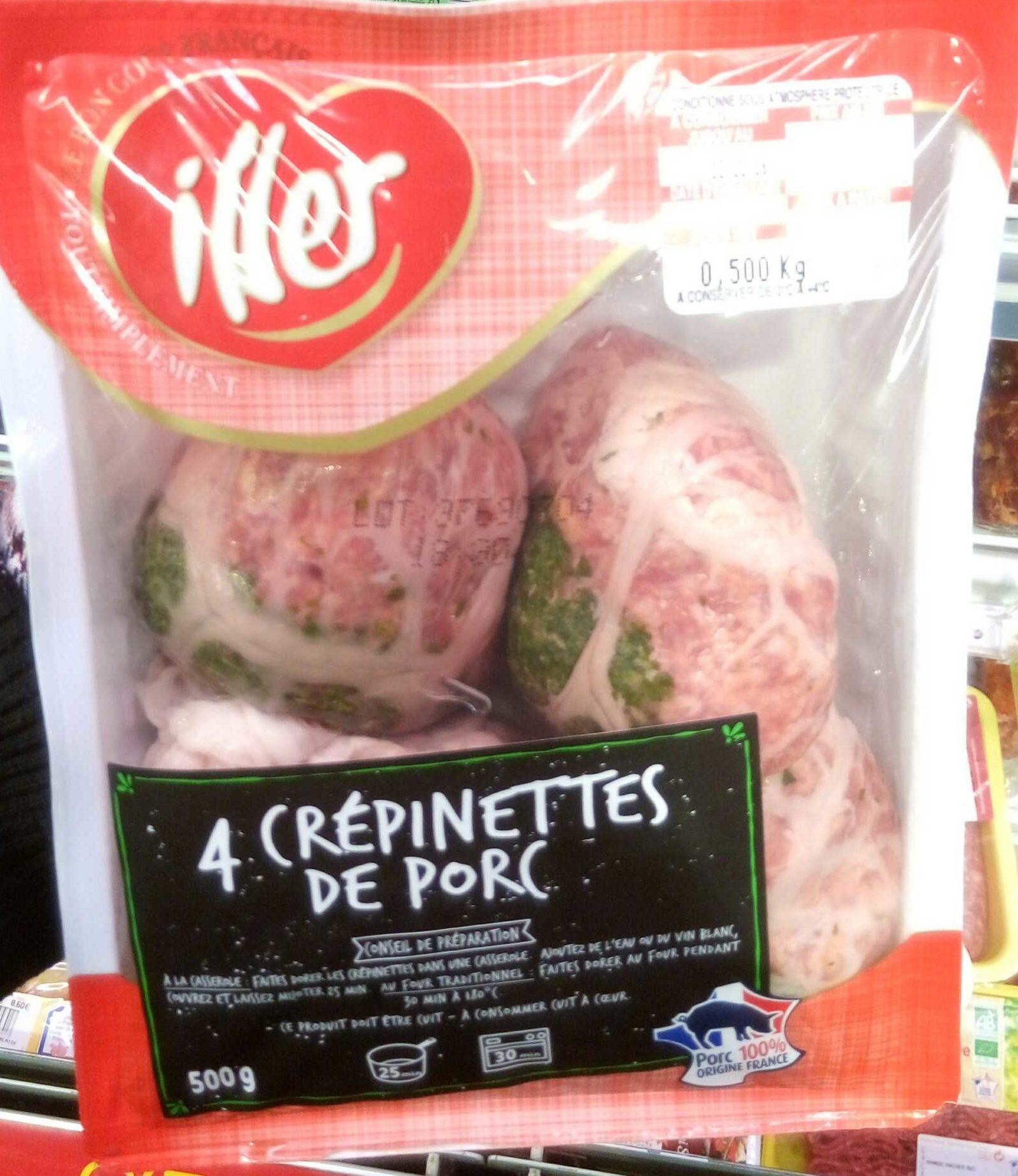 4 crépinettes de porc - Produit