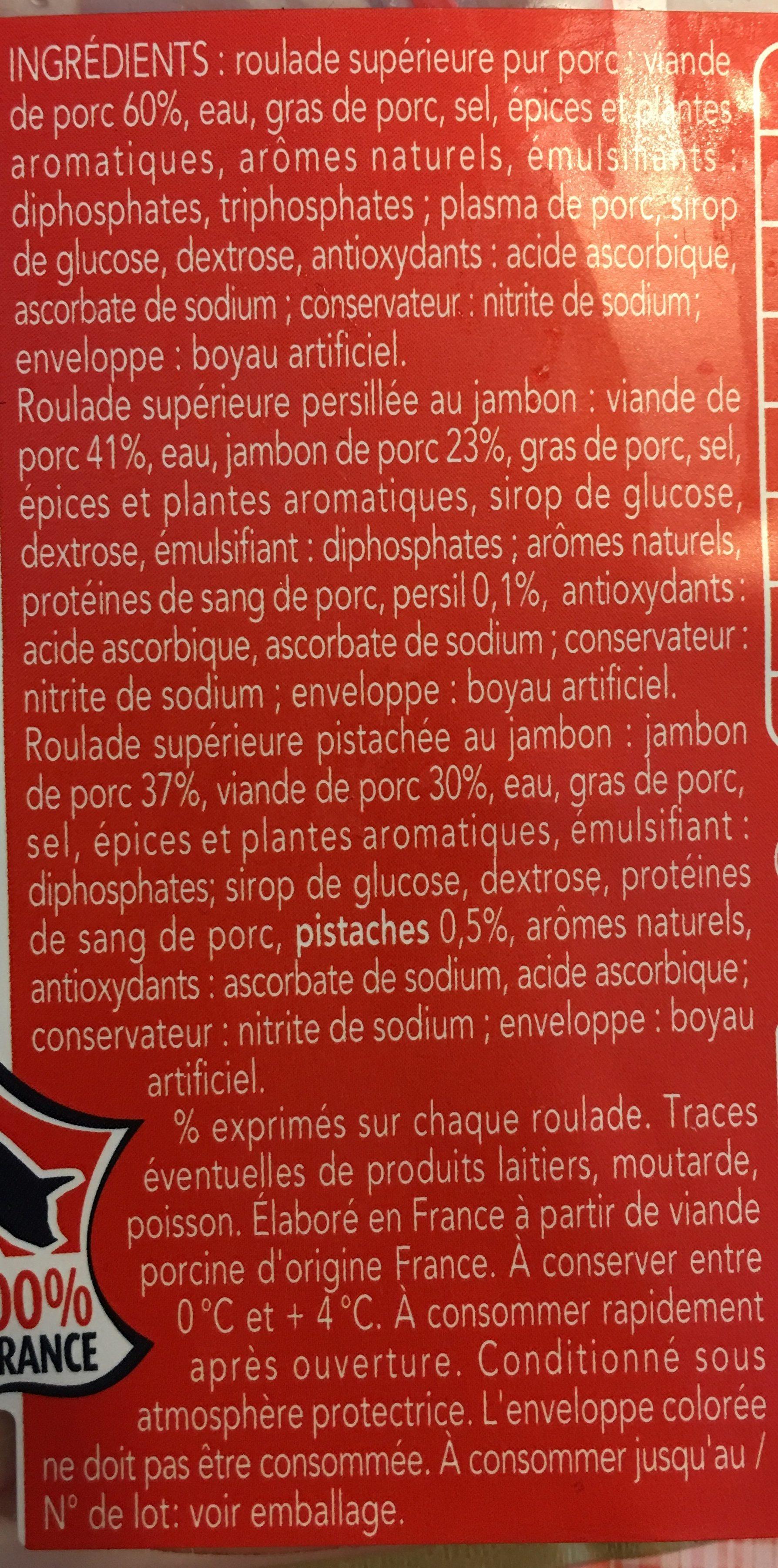 Iller Assortiment alsacien jambon/Lyon fine/persillé la barquette de 200 g - Ingredients