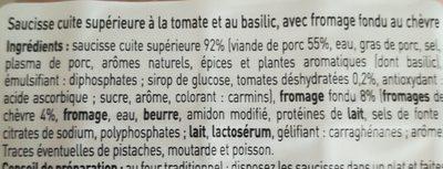 Saucisses au chevre - Ingredients