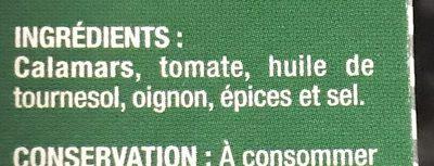 Calamars a l'americaine - Ingrediënten