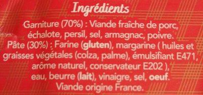 Pâté en croute Demoizet Ardennais - Ingrédients - fr