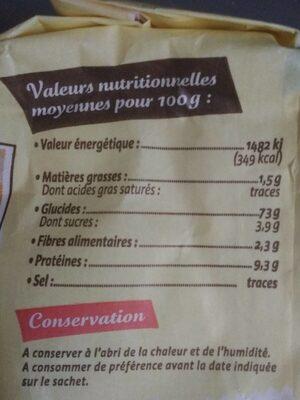 Coeur de blé - Voedingswaarden - fr