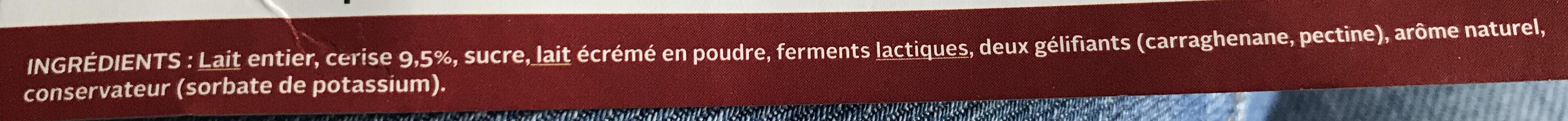 Yaourt Cerise - Ingrédients