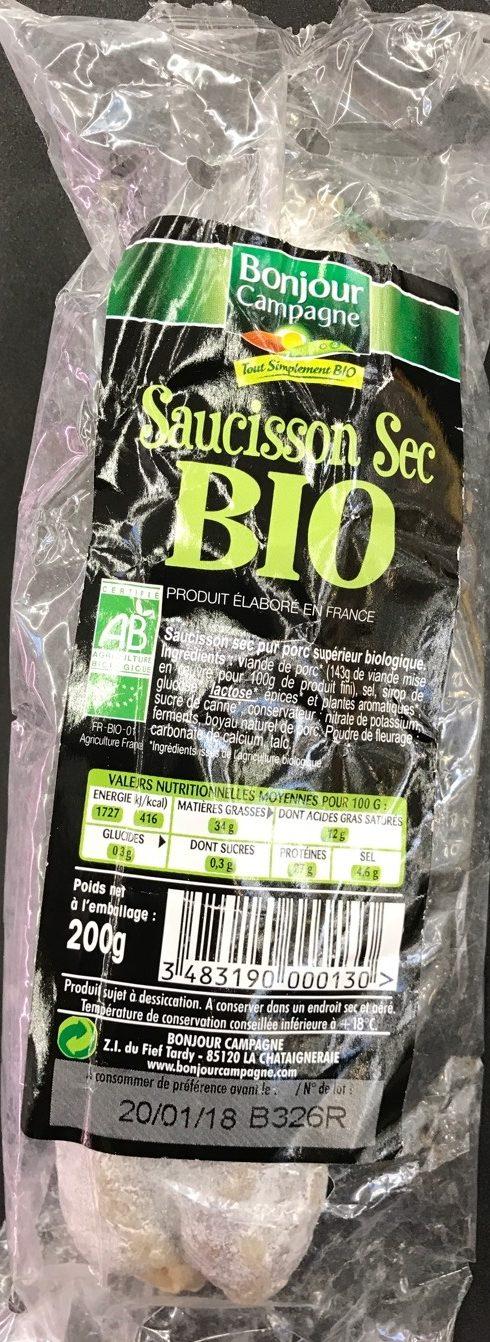 Saucisson Sec Nature - Produit