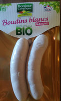 Bonjour Campagne Boudin Blanc Nature Bio - Produit - fr