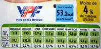 Jambon cuit découénné dégraissé Bio - Informations nutritionnelles - fr