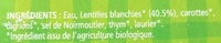 Lentilles cuisinées bio - Ingredienti - fr