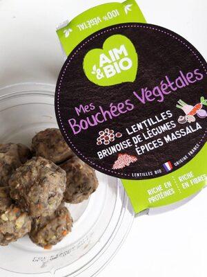 Bouchées végétales lentilles - 1