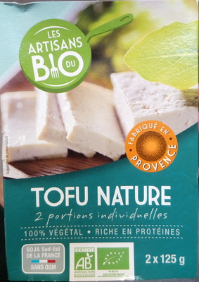 tofu nature les artisans du bio 250 g 2 x 125 g
