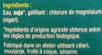 Tofu nature - Inhaltsstoffe - fr