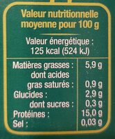 Tofu nature - Nährwertangaben - fr