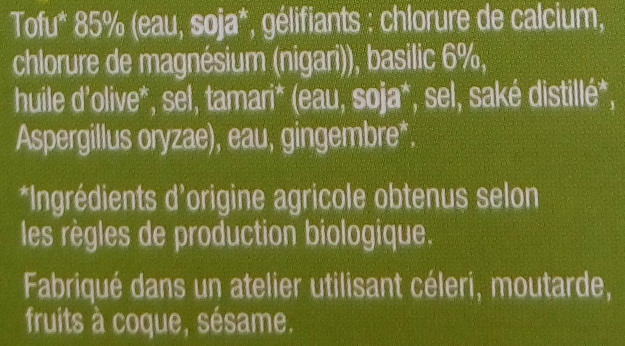 Tofu Basilic - Inhaltsstoffe - fr