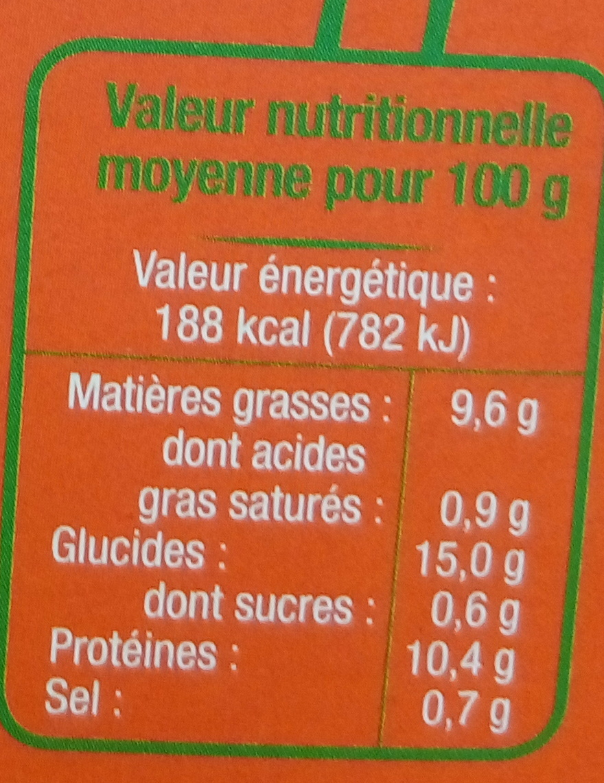 Steak de Tofu Potimarron Bio - Informations nutritionnelles