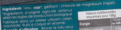Tofu Nature - Ingredienti - fr
