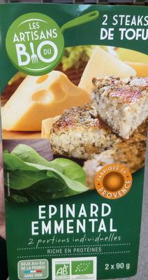 Steaks de Tofu aux épinards et à l'emmental Bio - Produit - fr
