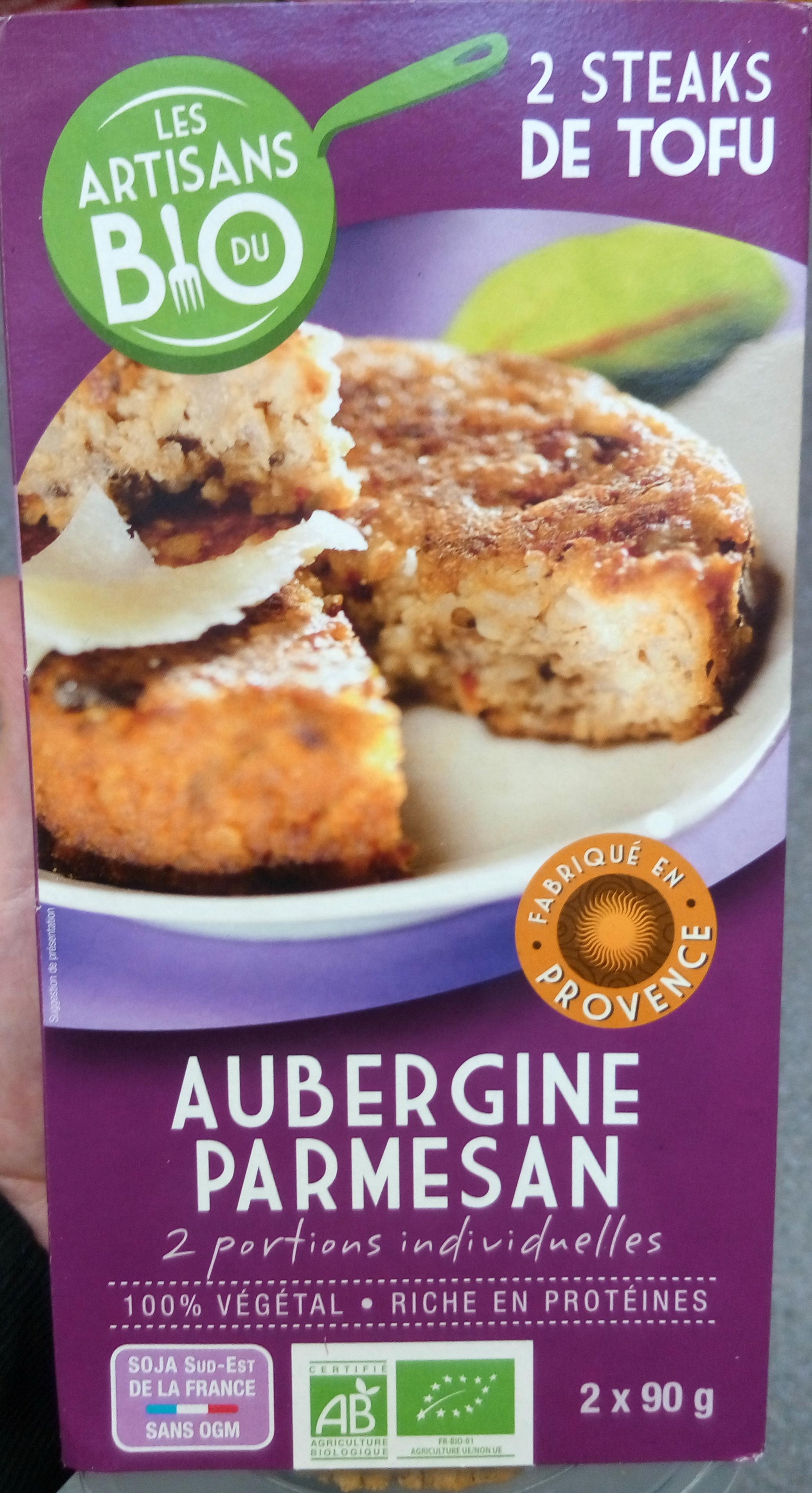 Steaks de Tofu à l'Aubergine et au Parmesan Bio - Produit