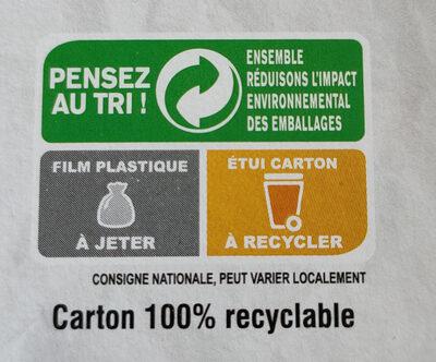 Tofu basilic - Instruction de recyclage et/ou informations d'emballage - fr