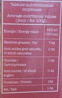 Tofu Ail & Ciboulette - Informations nutritionnelles - fr