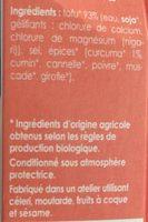 Tofu curcuma - Ingrédients - fr