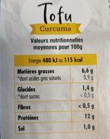 Tofu Curcuma - Informations nutritionnelles - fr