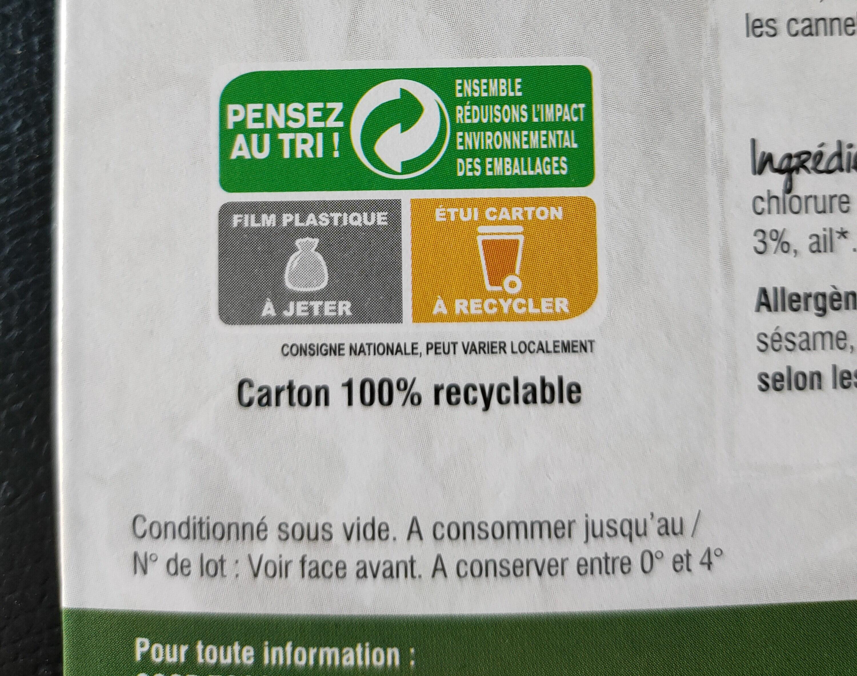 Tofu épinard noisette - Instruction de recyclage et/ou informations d'emballage - fr