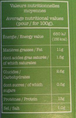Tofu Ail des ours & Noisettes - Informations nutritionnelles - fr