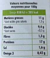 Suprêmes de tofu Ail des Ours - Informations nutritionnelles - fr