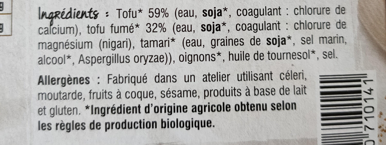 Suprêmes de tofu Fumés au bois de hêtre - Ingrédients - fr