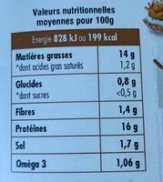 Suprêmes de tofu Fumés au bois de hêtre - Informations nutritionnelles - fr