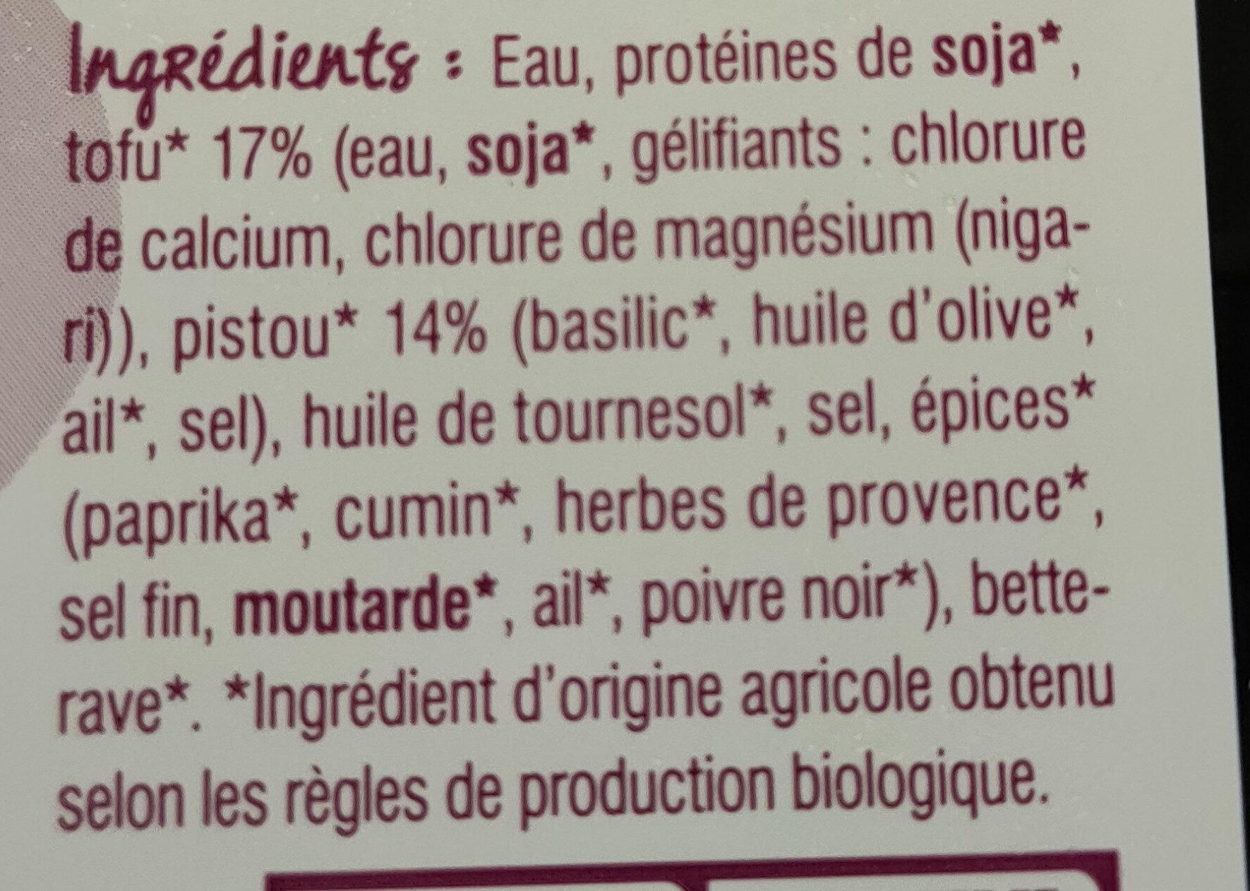 Haché Végétal Pistou - Ingrédients - fr
