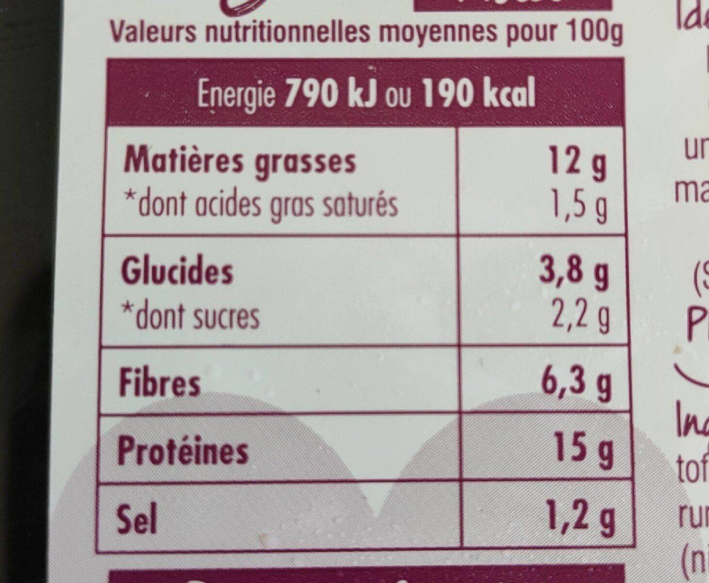 Haché Végétal Pistou - Informations nutritionnelles - fr
