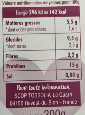 Haché Végétal Curry & Coco - Nutrition facts - fr