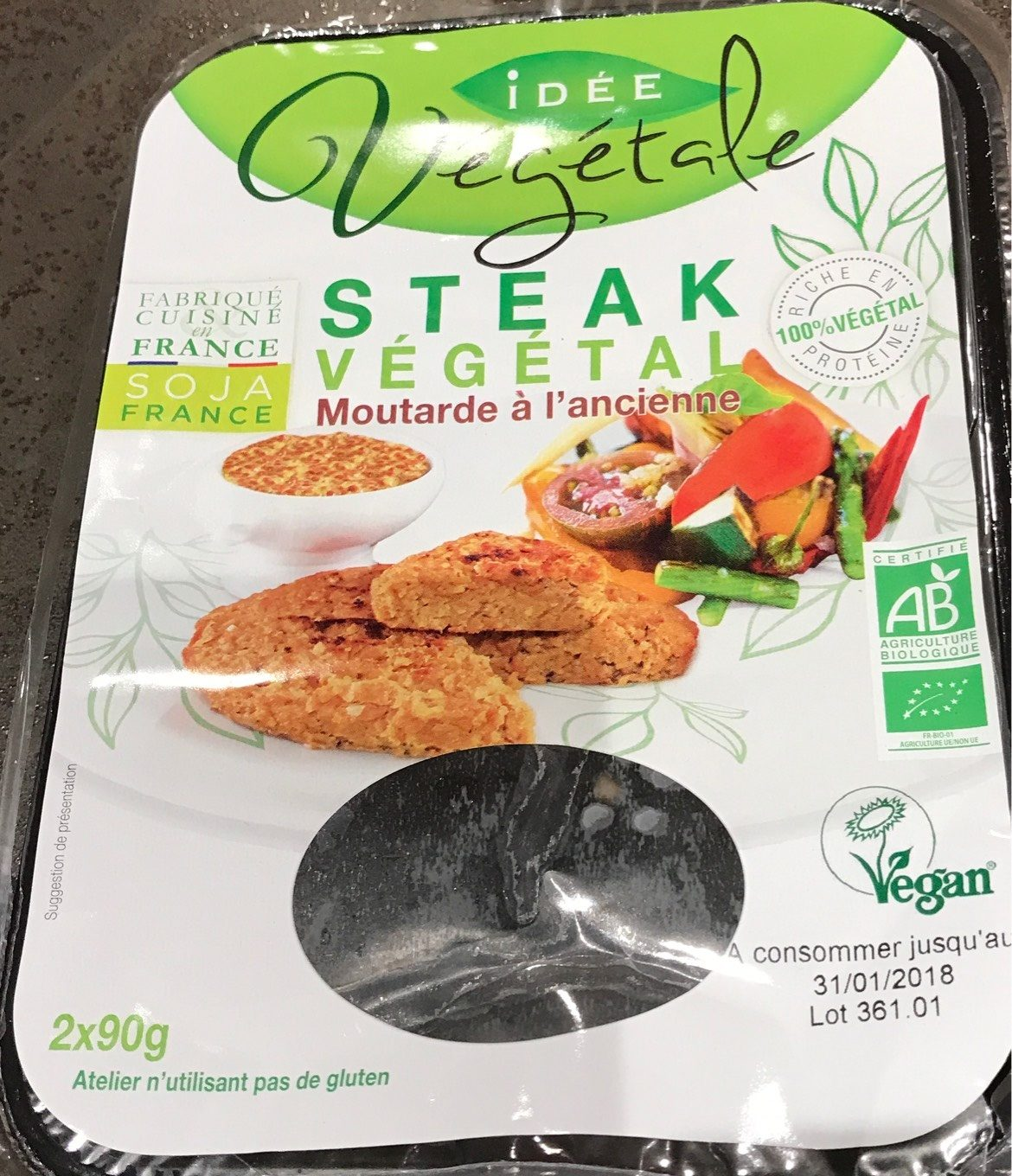 Steak Végétal - moutarde à l'ancienne - Product